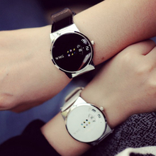2017 New Style Fashion Simple Black Pink Lovers Watch Luxury