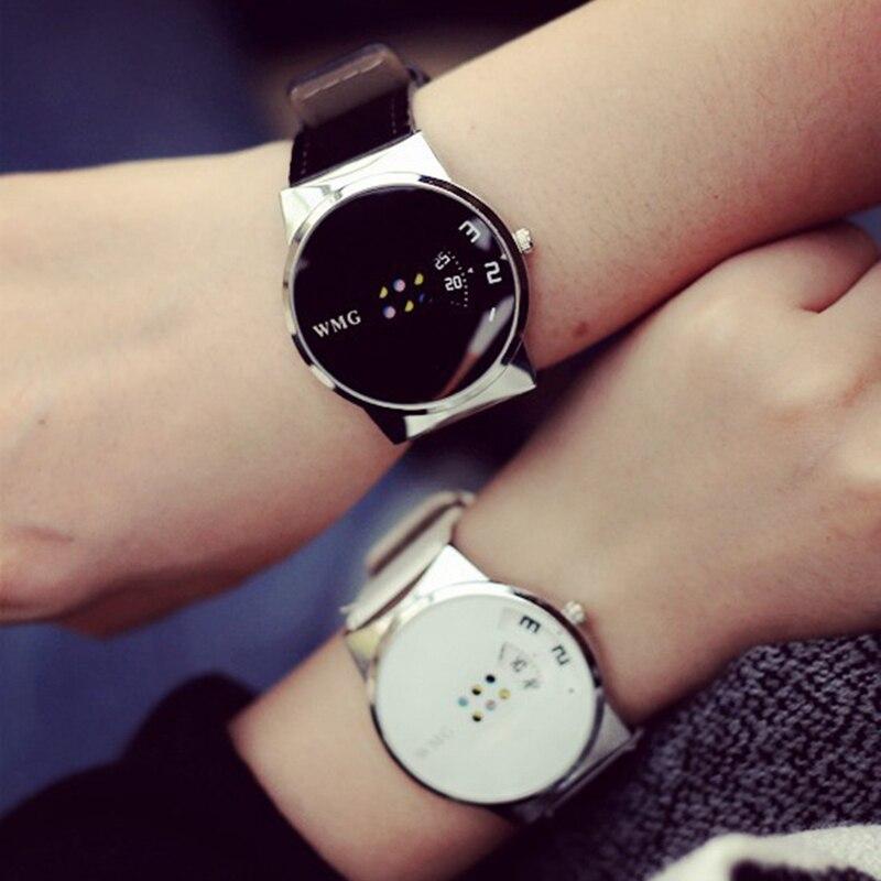 2020 New Style Fashion Simple Black Pink Lovers Watch Luxury Women Quartz Watch Table Couple Watch Clock Men