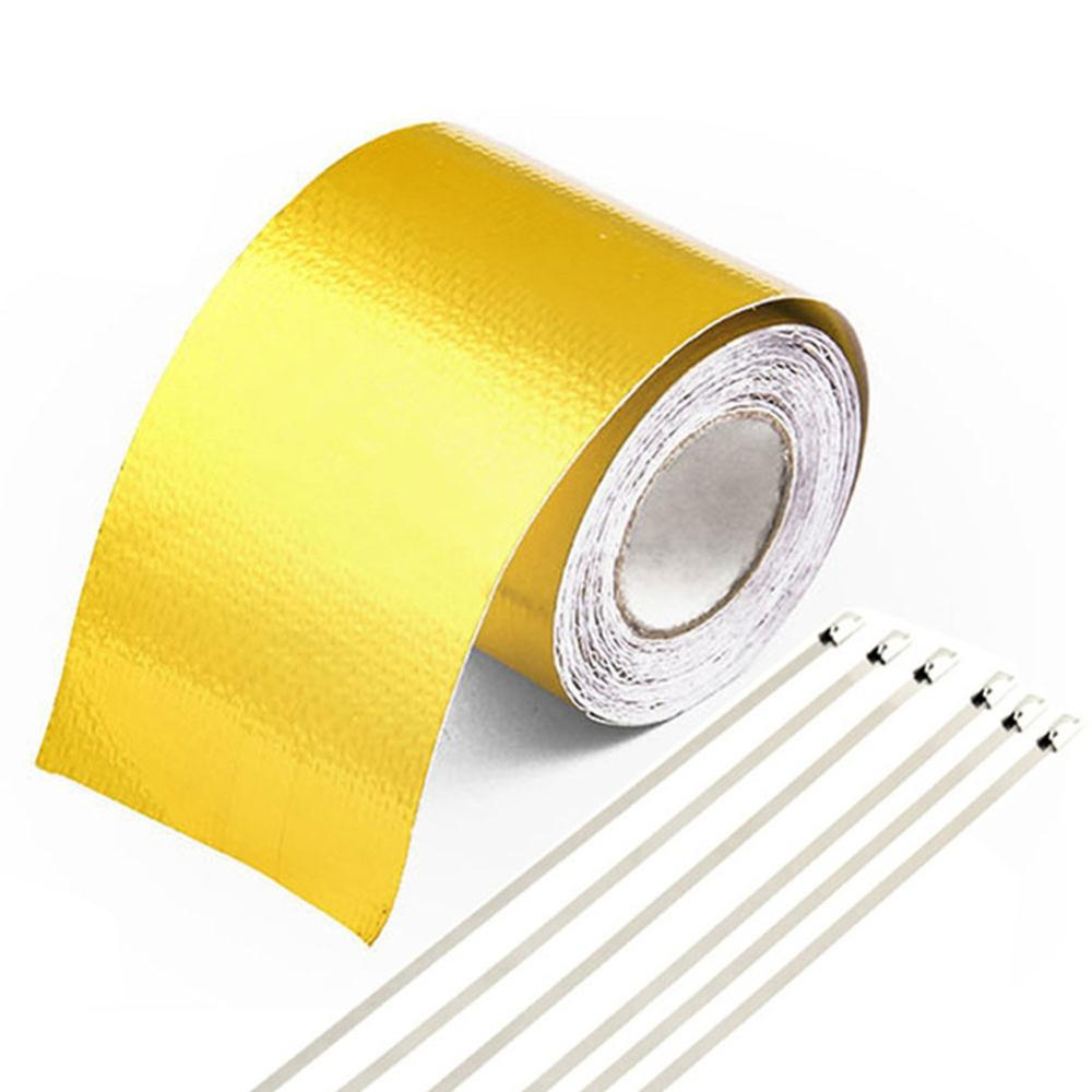 Image 3 - Car Thickened Heat Shield Reflective Aluminum Foil Tape Auto Engine Pipe Cover Temperature Isolat Adhesive-in Fillers, Adhesives & Sealants from Automobiles & Motorcycles