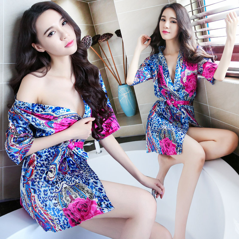 Women Sexy Nightdress Hot Transparent Temptation Dress Sexy Lingerie Large Size Sex Dres Open Front Night Kimono Bathrobe Suit in Babydolls Chemises from Novelty Special Use