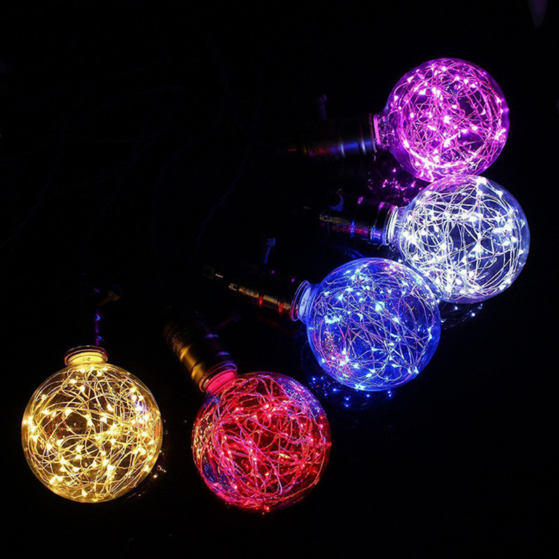 E27 220V Vintage LED Bulb LED String Colorful Glass Lamp Fairy Lights for Christmas Wedding Decoration indoor lighting globe fairy string bulb lights for indoor outdoor wedding christmas xmas thanksgiving party events home roof decor colorful