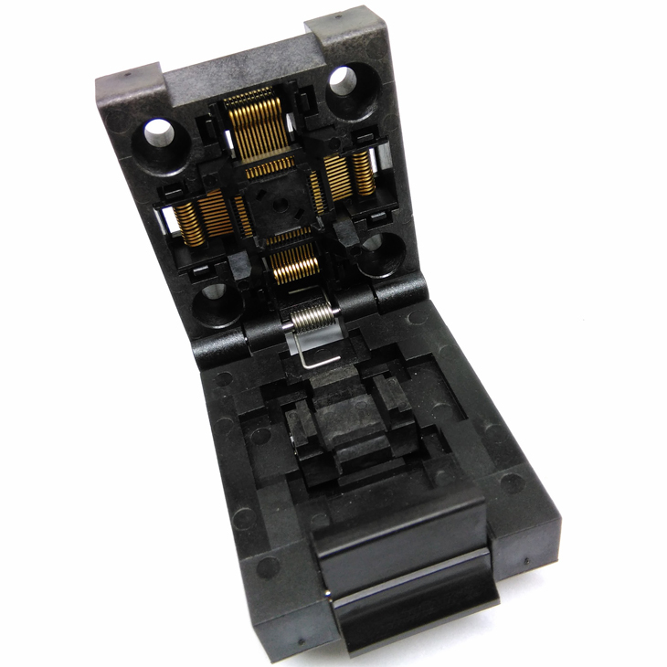 QFP48 TQFP48 LQFP48 Clamshell Pitch 0.5mm Programmer Socket FPQ-48-0.5-06 Test Flash Adapter Conversion Block