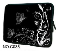 Hot Black Butterfly Laptop Sleeve Neoprene Bag Case For 11 6 12 13 3 14 15