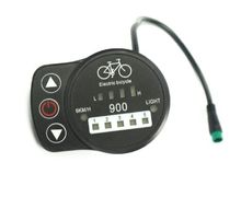 24 v 36 48 fonctionnelle velo electrique LED affichage 900 avec 5 niveau et 6 km/ heure pedale asisst ebike displayer