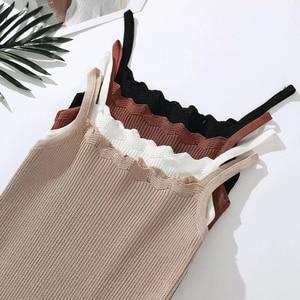 2018 estilo de verão regatas de malha feminina cor sólida crop tops cami camisola feminina camisas mujer
