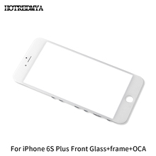 купить 10Pcs/lot Front Outer Glass Lens + Frame Bezel For iPhone 6S Plus Touch Screen Digitizer Panel Replacement Front Glass With OCA дешево