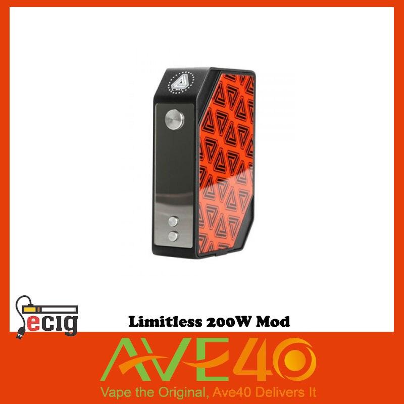 100% Original Limitless TC 200W LMC Box Mod Vape Electronic Cigarette Temperature Control  from ave40