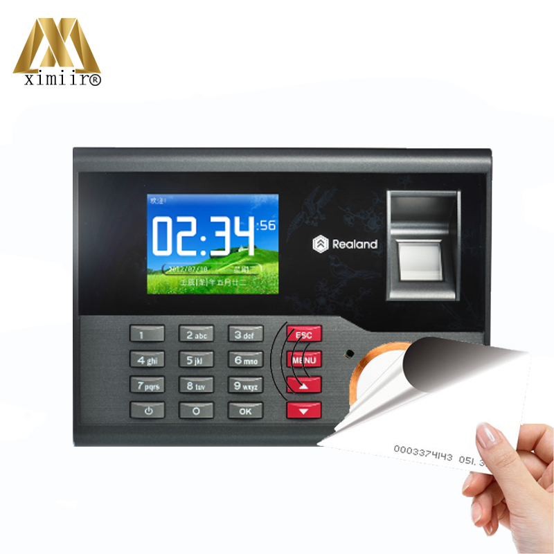 High Speed TCP/IP USB Fingerprint Time Attendance RFID card Time and Attendance Time Control Employee Attendance Device A-C121 a c030t fingerprint time attendance clock id card tcp ip usb