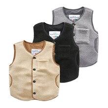 wt 6492 Baby pure spring 2017 Korean new boys wear vest pocket sleeveless coat children
