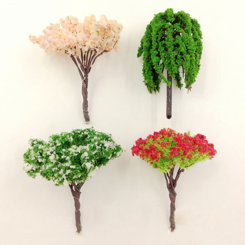 Artificial Pink Tree Willow Miniature Fairy Garden Home
