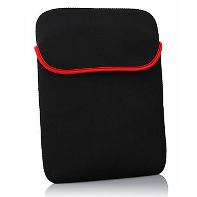 Soft Protective Sleeve Universal Tablet Bag 7 Inch Sleeve Pouch Cases Black Tablet Cover Pouch Bag For Huawei Xiami Apple soft neoprene protective pouch case for ipad 9 7 tablets black