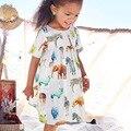 Костюм для Детей Бальные Платья 2017 Случайные Девочка Летнее Платье Vestidos Meninas Дети День Рождения Платье с Прекрасной Картины