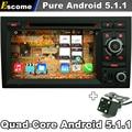 5.1.1 Pure Android Coches Reproductor de DVD Para AUDI A4 2002-2007 Audi S4 8E RS4 8F B7 B9 RNS-E con GPS Del Autoradio Del Coche de Visión Trasera cámara
