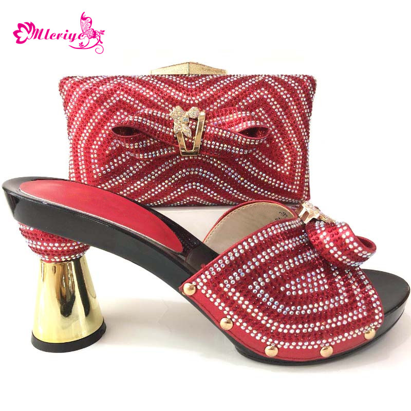 цена на Latest Design Matching Shoes and Bag Set Women Italian African Party Pumps Shoes and Bags High Quality Bag and Shoes for Women