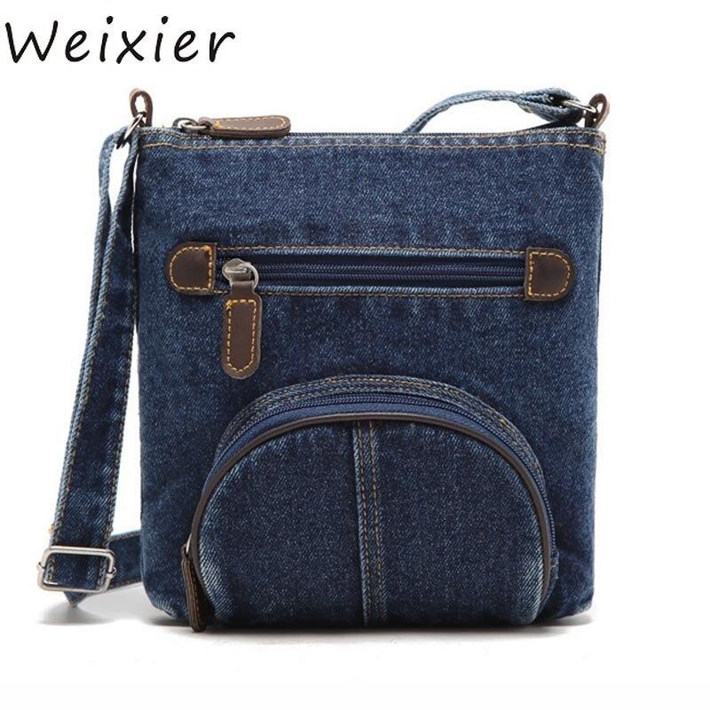 Bag Europeo Tasca Messenger Sacchetti Weixier Borsa Frontale Delle Borse Blu Donne Cowboy 75 Denim Classica Di Spalla Ly Della Modo XIwtwdq