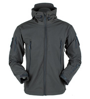 Shark Skin Softshell Jacket Men Outdoor Windproof Hooded Tactical Military Coat Windbreaker Thermal Fleece Hiking Jackets