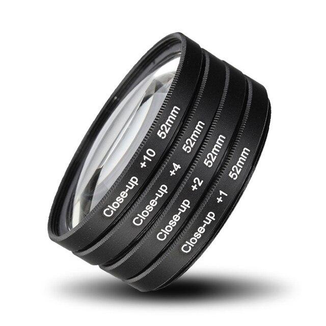 52MM Camera Macro Close Up Filter Lens Kit +1 +2 +4 +10 for NIKON D7100 D5100 D5200 D3300 D3200 D3100 D90 D80 D800 D700 D600