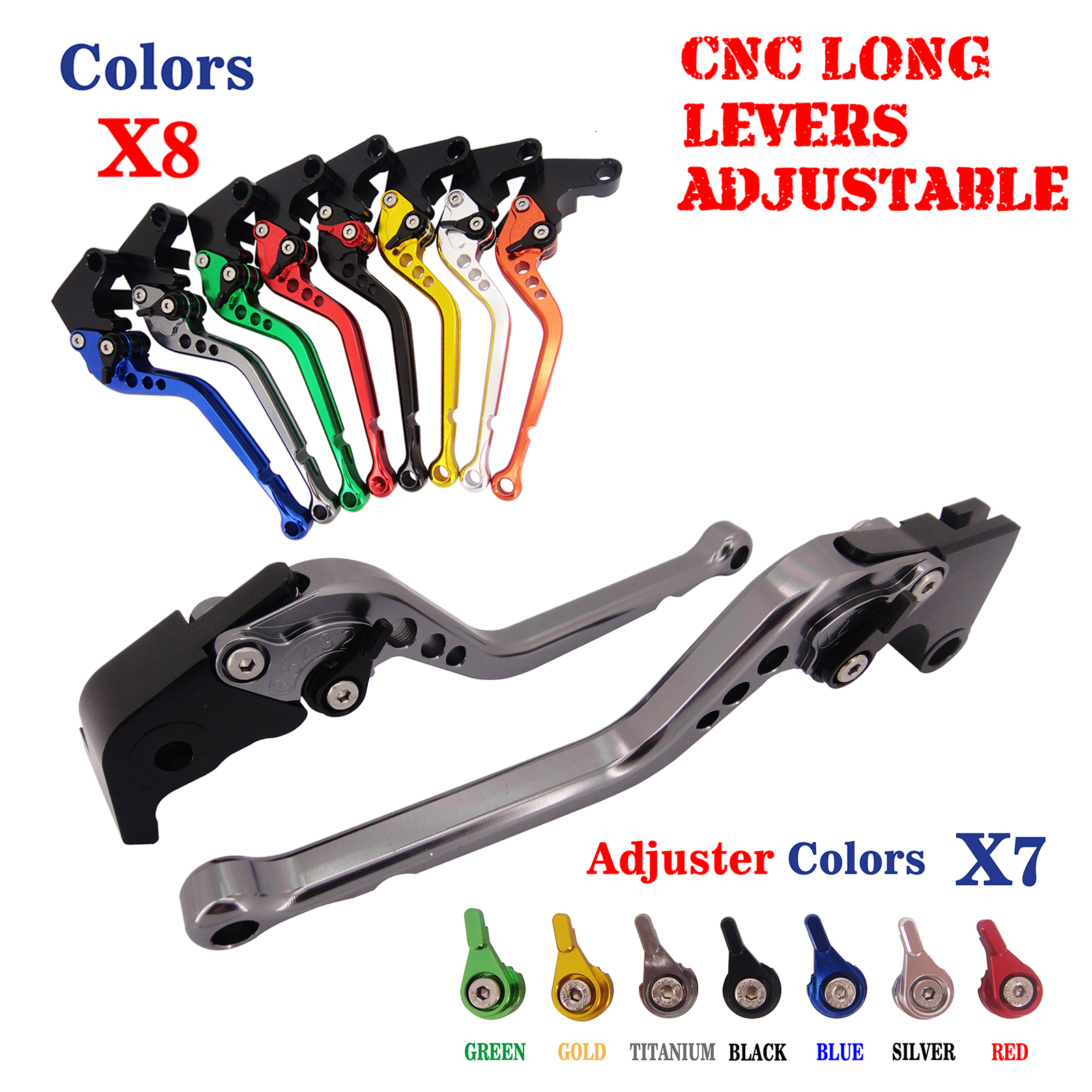 CNC Long Adjusatable Brake Clutch Lever For Yamaha TDM850 1991-2001 XJ900S Diversion 1995-2002 FZX250 Zeal 1991 1992 new keoghs real adelin 260mm floating brake disc high quality for yamaha scooter cygnus modify