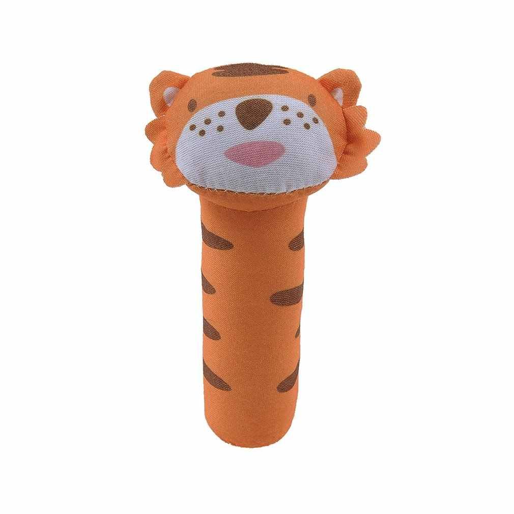 Baby Hand Grip Rattle ตุ๊กตา BB สติ๊กวัว Lion Panda Tiger กระต่ายลิงกวางหมูปริศนาตรัสรู้ตุ๊กตา Rattle