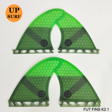 цена на FCS K2.1 Fins Fiberglass Honeycomb Fibre Surfboard Fin in Surfing FCS 4 in Per Set