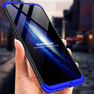 Image 2 - Dla Huawei P Smart 2019 360 stopni pełna ochrona etui z twardego plastiku dla Huawei P Smart 2019 POT LX3 Case szkło hartowane