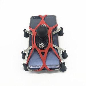 Image 2 - Ram Dağı X Kavrama Silikon Motosiklet telefon tutucu yuvası X kavrama gopro Iphone 7/7 Plus/8 Kırmızı siyah