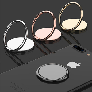 Luxury metal Mobile Phone Socket Holder Universal 360 Degree Rotation Finger Ring Holder Magnetic Car Bracket Stand Accessories(China)