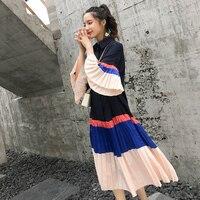 Surplice Neck Pleated Cami Dress Summer Fit And Flare Dress Pastel Romantic Women Sleeveless Spaghetti Strap Dresses F15