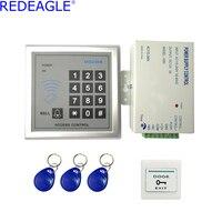 Redeagle المنزل الباب نظام مراقبة الدخول مجموعة مع لوحة + امدادات الطاقة تحكم + rfid keypad قانون في الأسهم الحرة مجانا