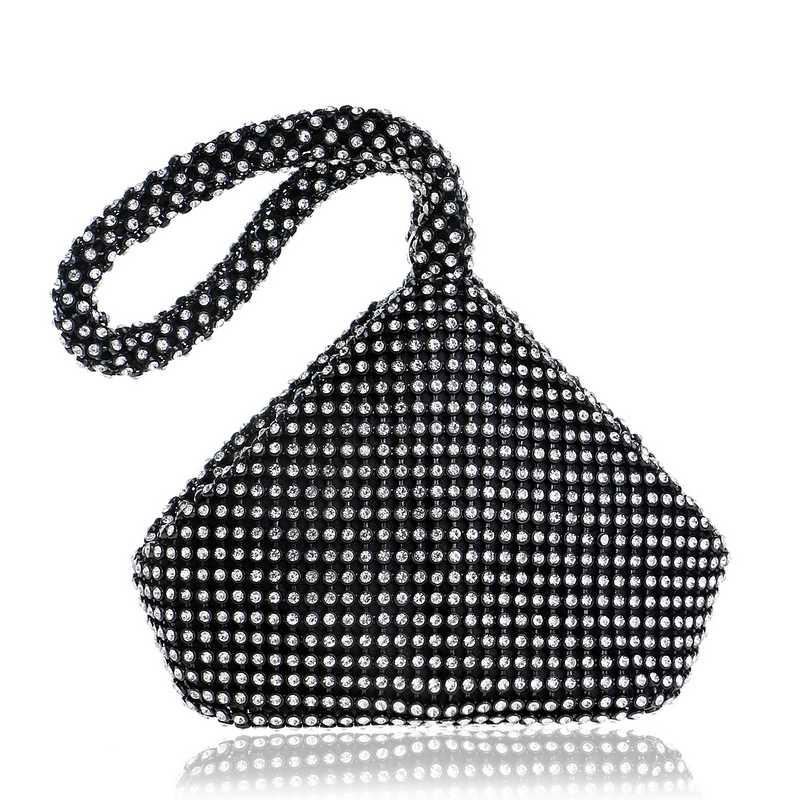 SEKUSA suave con cuentas de mujer bolsos de noche cubierta de estilo abierto señora boda Bridalmaid Bolsos Bolso de mano para el embrague de regalo de Año Nuevo