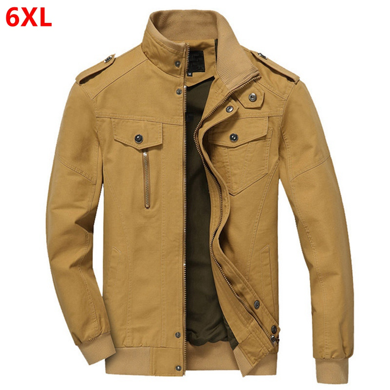 Military Jacket Men Autumn Winter Bomber Jacket Plus Size 4XL Cotton Pilot Tactical Air Force Cargo