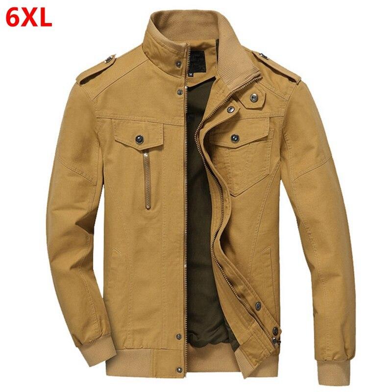 春の新トレンドビッグサイズ男性のジャケット洗浄綿大サイズツーリング男性のジャケット肩潮 5XL 6XL  グループ上の メンズ服 からの ジャケット の中 1