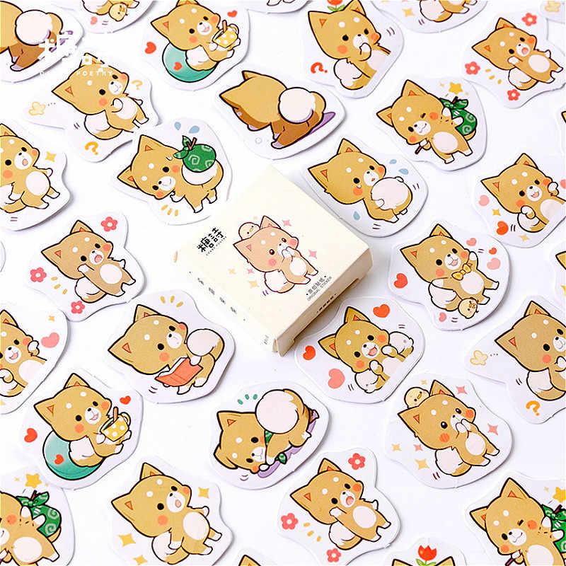 Shiba Inu dizüstü yaratıcı sticker ciltli not defteri yapışkan notlar Kawaii kırtasiye günlüğü ofis okul malzemeleri