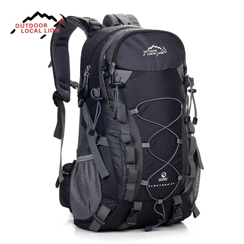 LOCAL LION 40L Travel Bag Men Outdoor Waterproof Backpacks Women Back Pack Camping Hiking Climbing Rucksack backpack tourist gykz new large capacity 40l outdoor tourist backpack women