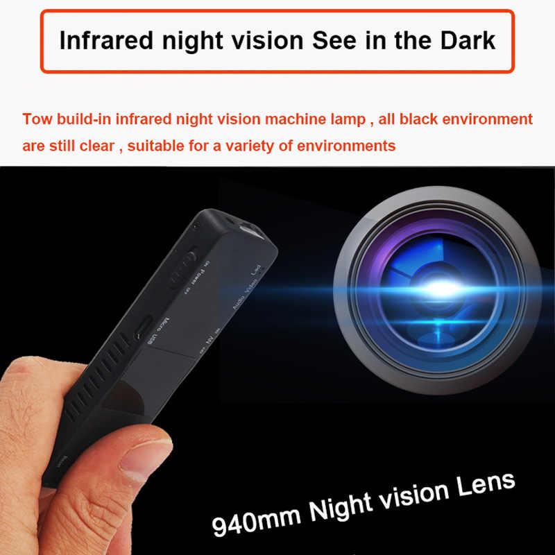 Kamera Pena Mini Cam 1080 P Cahaya Inframerah Penglihatan Malam Rekaman DVR DV Audio Rekaman Video Micro 800 MAh kecil