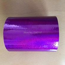 8 см x 120 м один рулон красивый фиолетовый; песок цветной фольги бумаги горячего тиснения коробка/пластик/ppc/ПВХ/pp материал