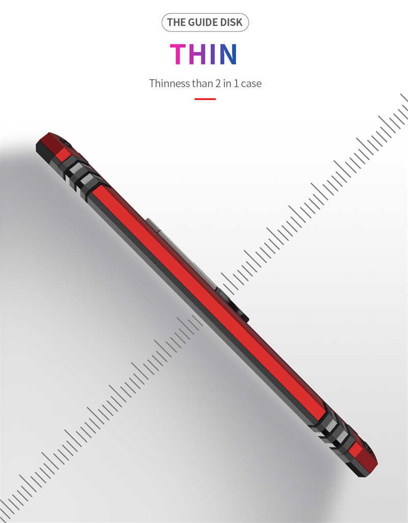 מגנט מתכת עמיד הלם Kickstand טלפון מקרה לסמסונג גלקסי A40 SM-A405F A405FN A405FM שריון סיליקון טבעת מחזיק כיסוי אופן בסיסי