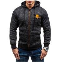 Hoodies Men 2017 Brand Male Hoodie Sweatshirt Mens Zipper Moletom Masculino Hoodies Slim Tracksuit Large Size