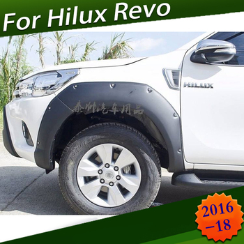 Passage de roue ABS noir garde-boue tarifs garde-boue pour Toyota Hilux Revo SR5 2016 2017 2018