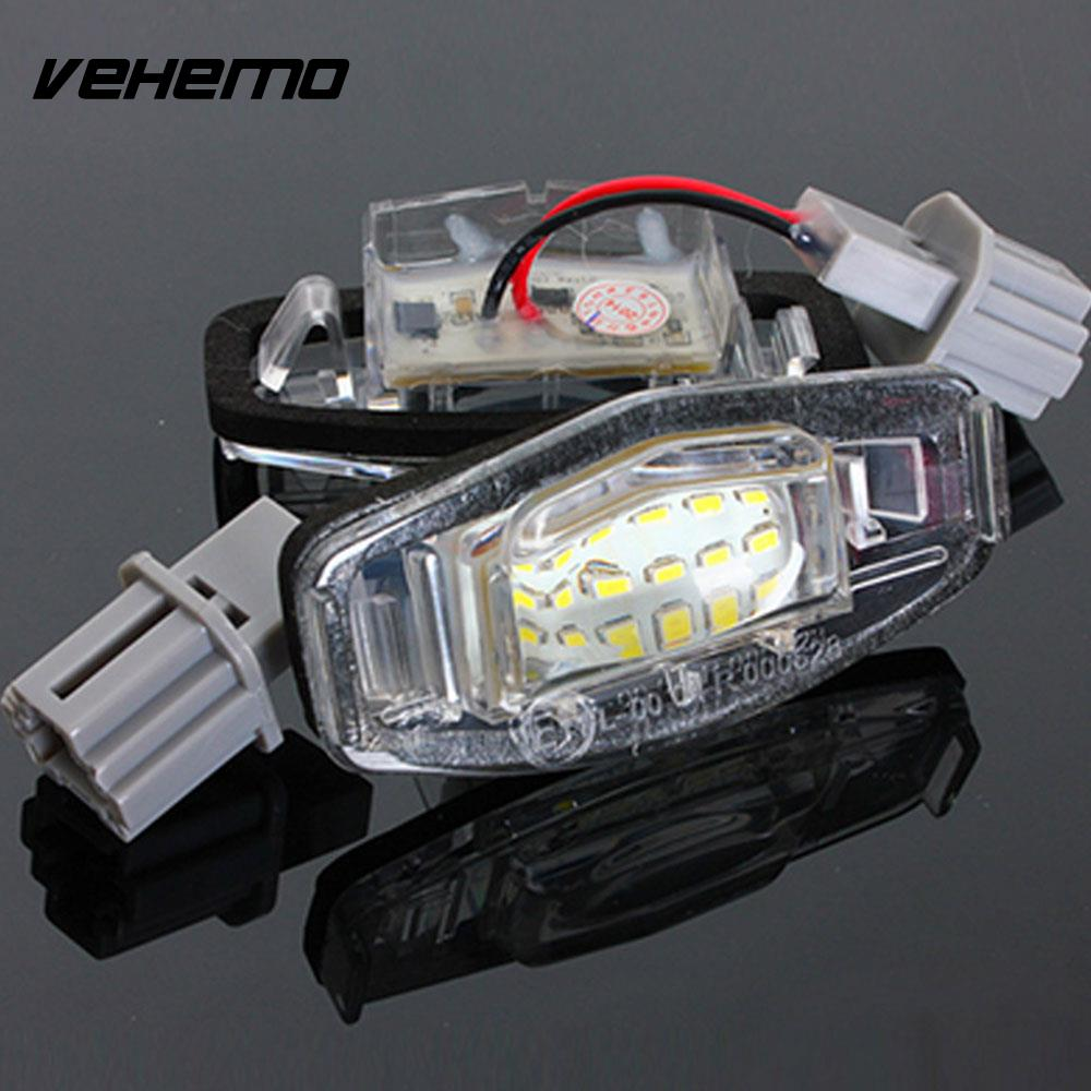 ᗖVehemo 2PCS Number Plate Light Rear Lamp LED License Plate Light