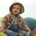 Novo 2016 do bebê Inverno Meninos Crianças outerwear casaco fashion kidsThick casacos Quentes com capuz roupa das crianças Roupa Dos Miúdos