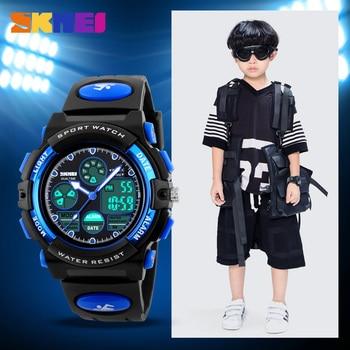 SKMEI 1163 Waterproof Children Digital Electronic Quartz Wristwatches Clock Fashion Sports Watches For Kids Boys Girls Relojes