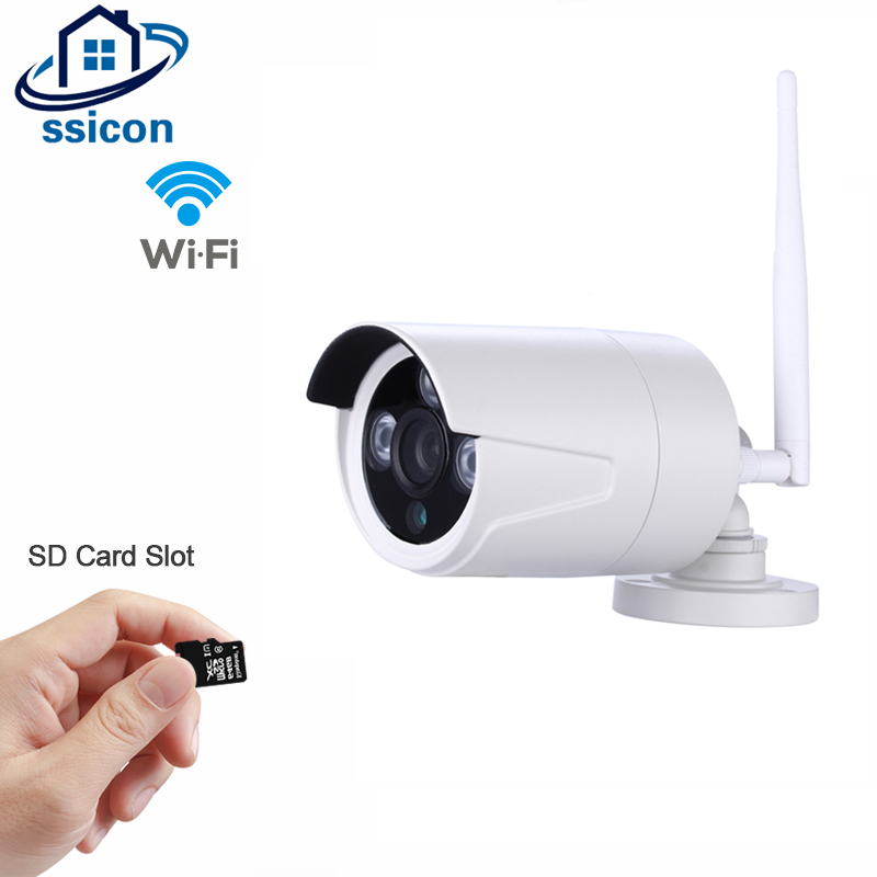 SSICON 1.0MP 1.3MP Wireless Surveillance CCTV Camera IP 3 Array Leds Waterproof WIFI Camera Bullet Outdoor Support 64G SD Card wistino cctv camera metal housing outdoor use waterproof bullet casing for ip camera hot sale white color cover case