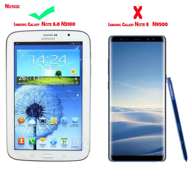 6e892736f00 Wireless Bluetooth Keyboard For Samsung Galaxy Note 8.0 N5100 Case ...