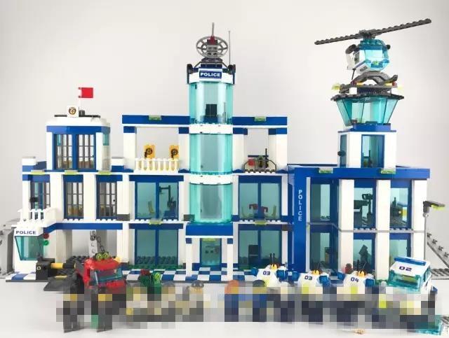 Police Station Set Building Blocks City Action Toy Figures Assembled Toy Stadt Aktionsspielfiguren Montiert DIY Modell Spielzeug salzburg stadt зальцбург