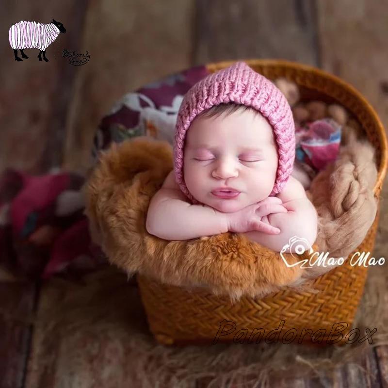 14 Farben Neugeborenen Fotografie Häkeln Hut Für Baby Mädchen Junge Foto Schießen Kappe Requisiten Bebe Fotografia Zubehör Neugeborenen Foto Requisiten