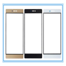 10pcs/lot AA High quality! White Black Gold Digitizer screen front glass lens outer glass for Huawei honor 6 plus