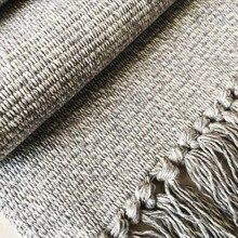 Alfombra tejida a mano, alfombra Vintage, Alfombra tejida a mano, alfombras sólidas, cojín para meditación, sala de estar, alfombra moderna india a rayas