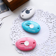 1PC DIY Stationery Knife Cutter Mini Oval Utility Knife Craft Knife Blade Making Special