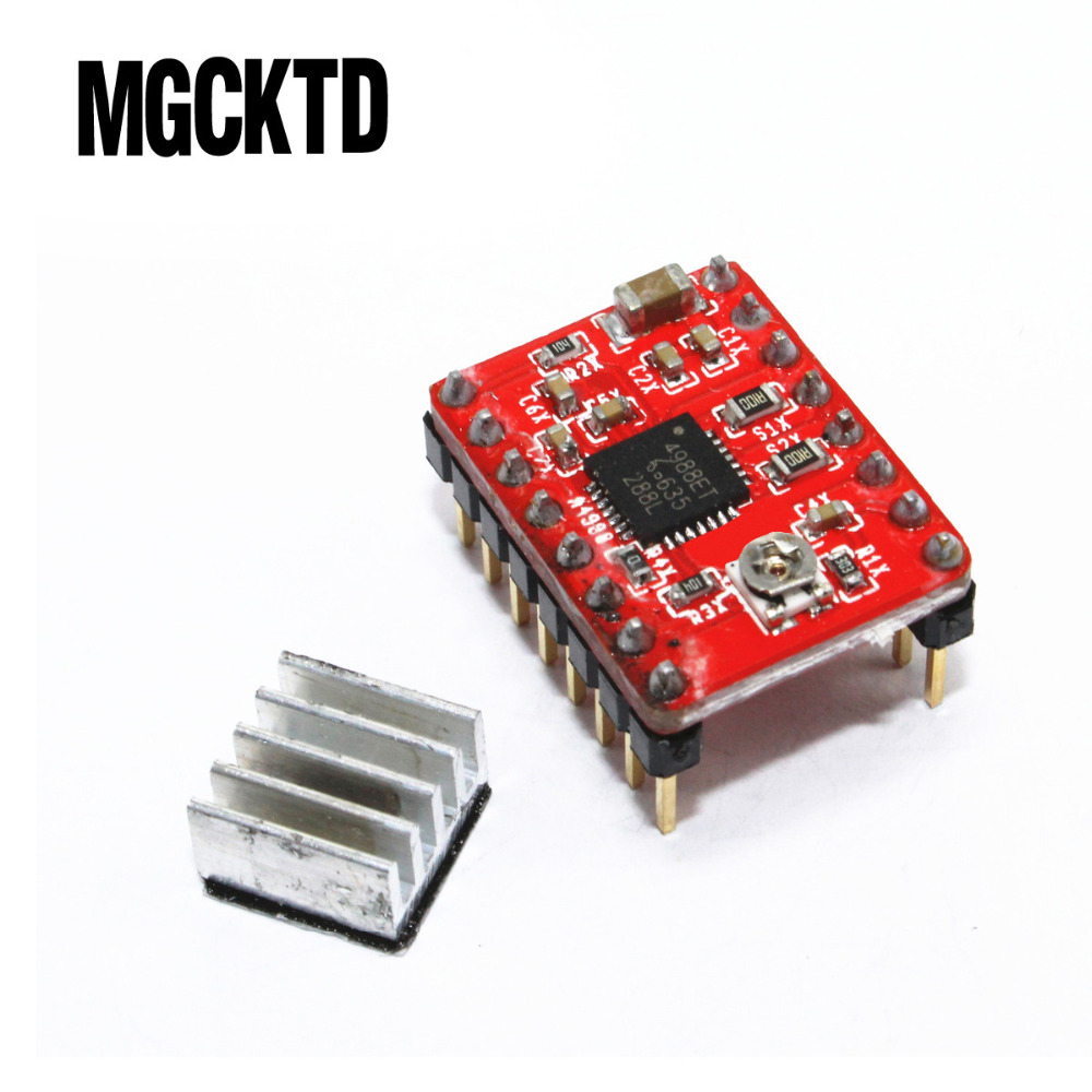 10pcs Reprap Stepper Driver pololu A4988 Stepper Motor Driver Module with Heatsink For R ...